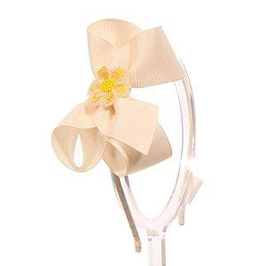 ADF408-20 - Tiara Laço G Desenhos Variados - Marfim Flor