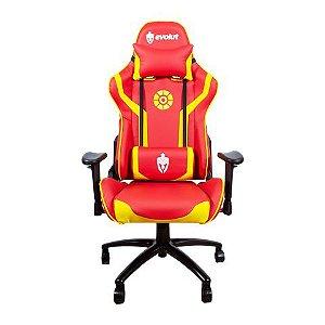 Cadeira Gamer Heroes EG-920 Vermelho e Dourado Evolut