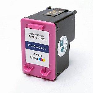 Compatível: Cartucho de Tinta HP 664XL Color 12ml Microjet