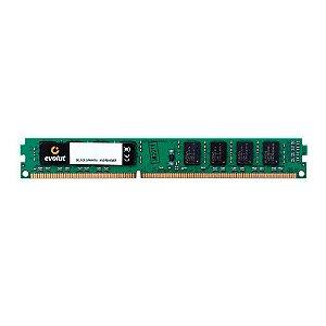 Memória Desktop 8GB DDR3 1333MHz Evolut