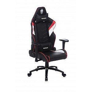 Cadeira Gamer Heavy Preto/Vermelho/Branco EG990 Evolut