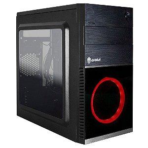 Gabinete Gamer Shin EG-804 (cooler vermelho) Evolut