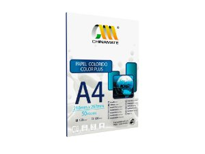 Papel Color Plus Laranja A4 120g 50fls