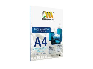 Papel Color Plus Laranja A4 180g 50fls