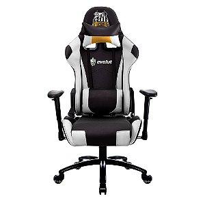 Cadeira Gamer Tanker EG-900 Santos E-Sports (Branco, Preto e Dourado) Evolut