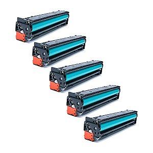 Compatível: Kit 5 Toner HP CB540A | CF210 | CE320 2.2k Evolut