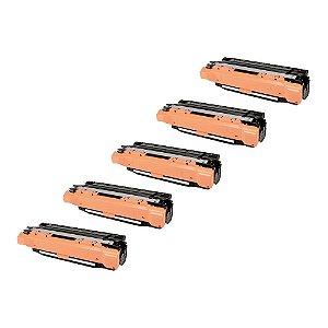 Compatível: Kit 5 Toner HP CE253A | CE403A Magenta 7k Evolut