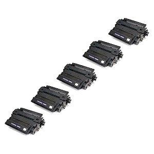Compatível: Kit 5 Toner HP CE255X | P3015 | P3010 12.5k Evolut