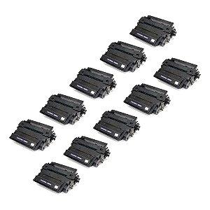 Compatível: Kit 10 Toner HP CE255X | P3015 P3010 12.5k Chinamate