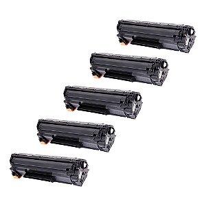 Compatível: Kit 5 Toner HP CE278A | P1606DN 2.1k Evolut