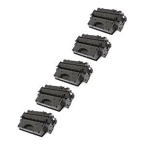 Compatível: Kit 5 Toner HP CE505X | CF280X 6.9k Chinamate