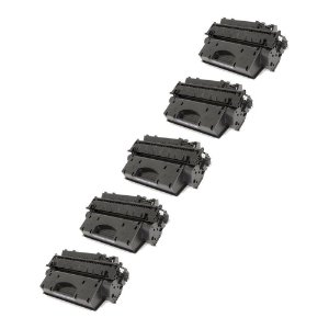 Compatível: Kit 5 Toner HP CE505X | CF280X 6.9k Evolut