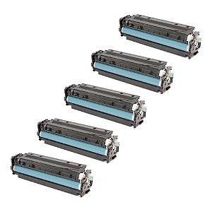 Compatível: Kit 5 Toner HP CE410X | CF380X | CC530X 4.4k Chinamate