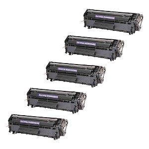 Compatível: Kit 5 Toner HP Q2612A | 3050 | 1020 2k Chinamate