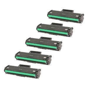 Compatível: Kit 5 Toner Samsung D101 | SCX 3405W 1.5k Evolut