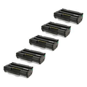 Compatível: Kit 5 Toner Ricoh SP3510 6.4k Evolut