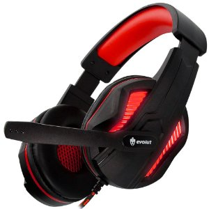 Headset Gamer com Fio Thoth EG305RD Vermelho Evolut