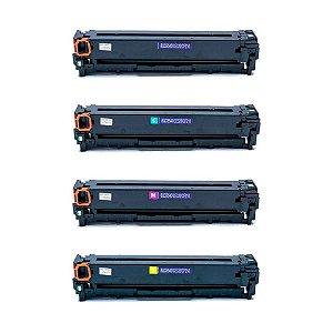 Compatível: Kit 4 Toner HP CB540A|CB541A|CB542A|CB543A CMYK Evolut