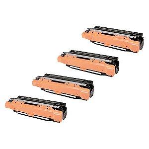 Compatível: Kit 4 Toner HP CE250A|CE251A|CE252A|CE253A CMYK Chinamate
