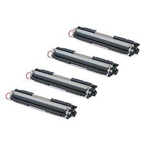 Compatível: Kit 4 Toner HP CE310A|CE311A|CE312A|CE313A CMYK Evolut