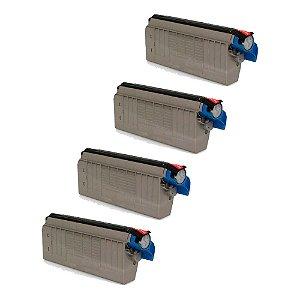 Compatível: Kit 4 Toner Okidata C710|C711 CMYK Chinamate