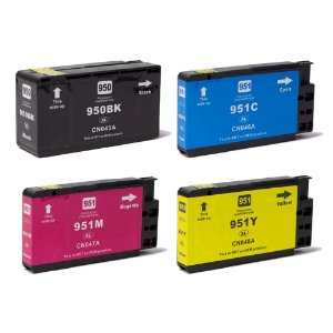 Compatível: Kit 4 Cartuchos de Tinta HP 950XL/951XL CMYK Evolut