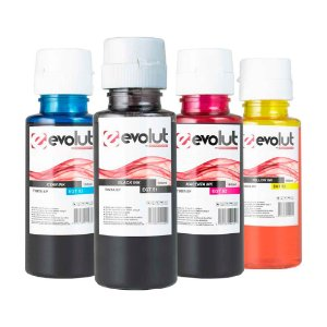 Compatível: Kit 4 Tintas HP EGT-51/52 CMYK 100ml Evolut