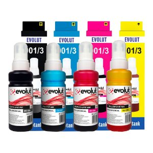 Compatível: Kit 4 Tintas Universal Epson/HP EV365(664/673) CMYK 100ml Evolut