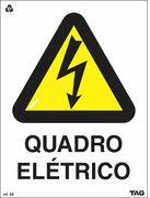 Placa Sinalização QUADRO ELÉTRICO ABNT
