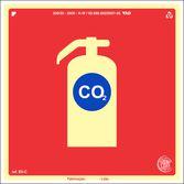 Placa Sinalização EXTINTOR CO2 ABNT