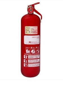 Extintor Pó Químico ABC 2 kg - AUTOMOTIVO 5 ANOS GARANTIA