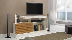 Rack Para TV 40 Polegadas  C/ 1 Porta Correr Off White/Nobre Pradel