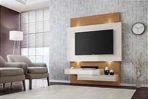Painel para TV 55 Até Polegadas  2 GAV  LED  Off White/ Freijo Pradel