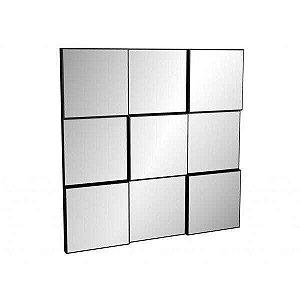 Painel Decorativo Quadriculado 3D  -  Preto/Espelhado Dalla Costa