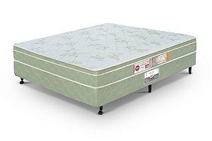 Cama Box Casal  Verde Castor  Sleep Max D33 138x188x60