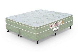 Cama Box Queen Casal  Verde Castor  Sleep Max D33 158x198x60