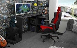Mesa Gamer 4 Nichos Preto - BRV Móveis