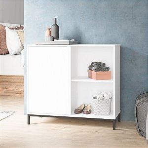Cômoda 1 Porta 2 Nichos Dormitório Branco - BRV Móveis
