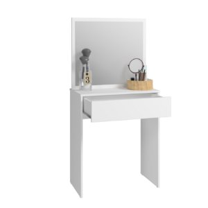 Penteadeira 1 Gaveta 1 Espelho Branco - BRV Móveis