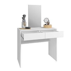 Penteadeira 2 Gaveta 1 Espelho Branco - BRV Móveis