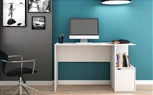 Mesa de Computador 1 Porta Office Branco- BRV Móveis