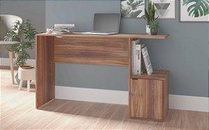 Mesa de Computador 1 Porta Office Castanho- BRV Móveis