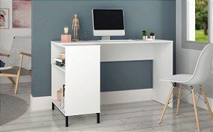 Escrivaninha para Notebook 2 Nichos Office Branco - BRV Móveis