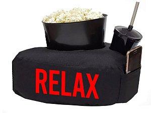 Kit Almofada Relax com Balde de Pipoca e Copo - Vermelho
