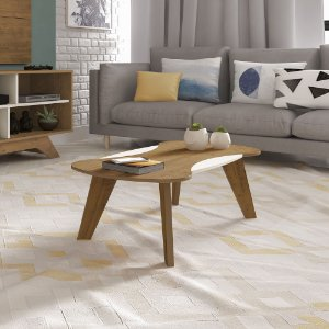 Mesa de Centro Nicole para Sala  Artely Pinho Off White