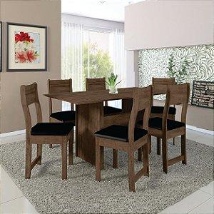 Mesa de  Jantar 6 lugares Talita Indekes Noce preto