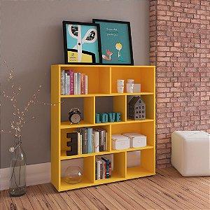 Estante Para Livros Book Amarelo  Artely