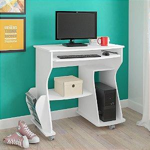 Mesa Para Computador 160 com 2 Nichos Artely Branco