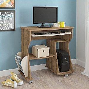 Mesa Para Computador 160 com 2 Nichos Artely Pinho Off White