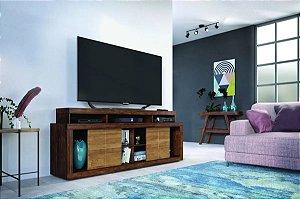 Rack Titan Caemmun Para Tv Ate´70 Polegadas Havana/ Buriti